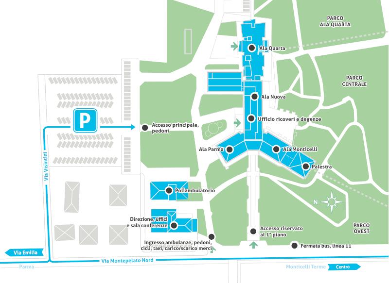 piantina area ospedaliera