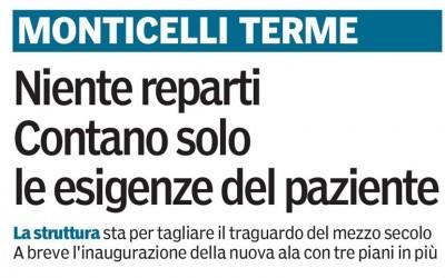 L'OSPEDALE MARIA LUIGIA PROTAGONISTA SULLA GAZZETTA DI PARMA